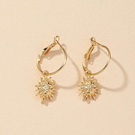 Ohrringe aus Sonnenblumenlegierung NHGU309842's discount tags