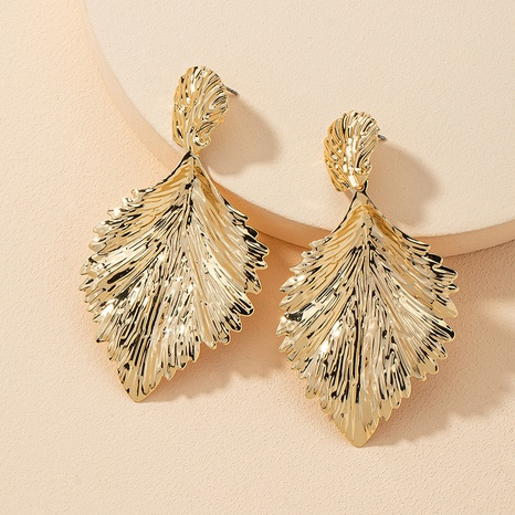 fashion metal leaf earrings  NHGU309851's discount tags