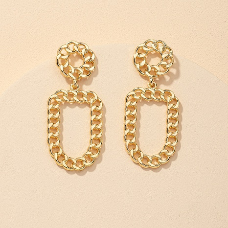 metal chain fashion earrings NHGU309853's discount tags