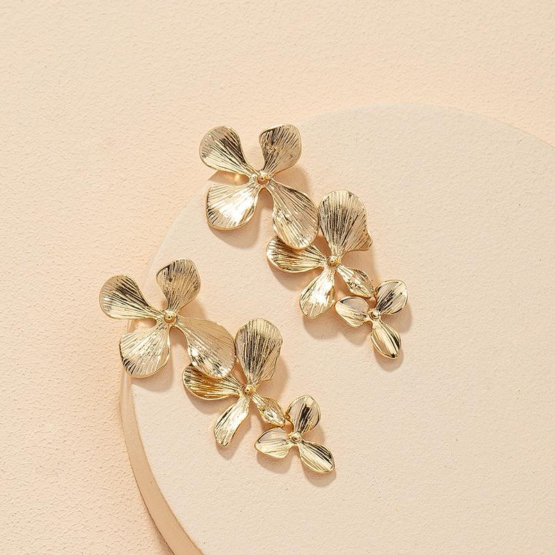 new flower metal earrings  NHGU309859