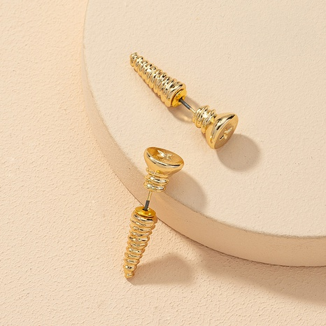 fashion screw alloy earrings  NHGU309870's discount tags
