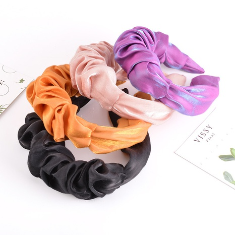 chiffon bright silk wide-sided headband NHAQ309873's discount tags