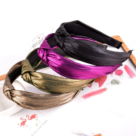 bright silk knotted wide-brimmed fashion headband  NHAQ309874's discount tags