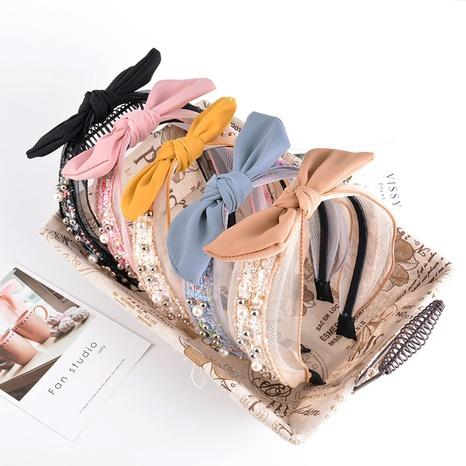 pearl bow fashion headband  NHAQ309876's discount tags