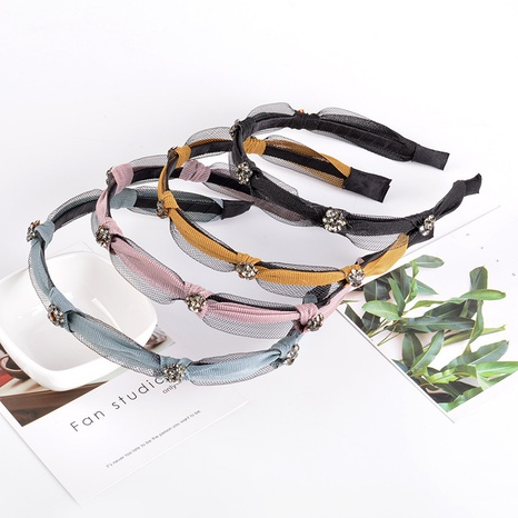 Netzgarn Mode feines Strass Stirnband NHAQ309877's discount tags