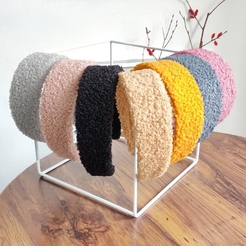 new plush pure color simple headband  NHAQ309880