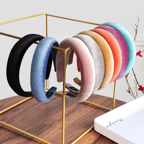 solid color flannel sponge headband  NHAQ309881's discount tags