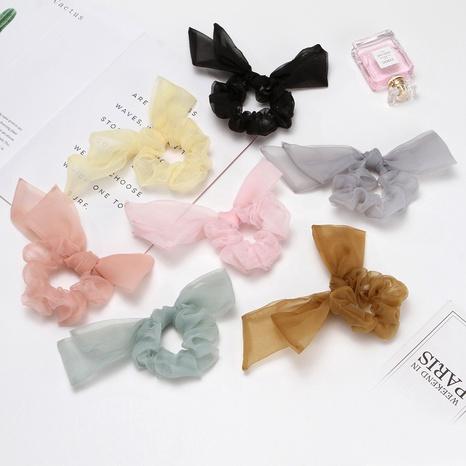 Scrunchies coreanos de pelo de organza de color sólido NHAQ309883's discount tags