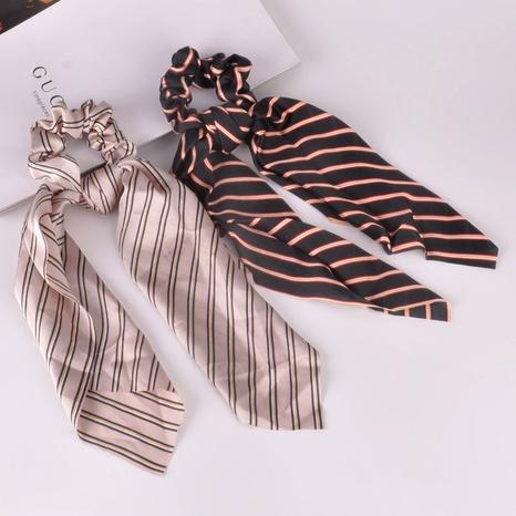 gomas para el pelo de tela de raso a rayas NHAQ309884's discount tags