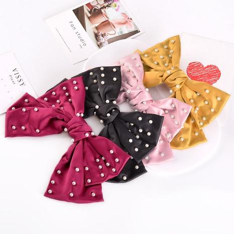 horquilla con lazo de perlas de moda NHAQ309897's discount tags