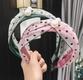 Korean fashion polka dot mesh pearl hair band NHAQ309906