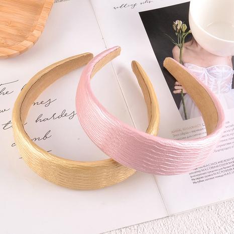 einfaches Stirnband mit breiter Krempe aus PU-Leder NHAQ309908's discount tags