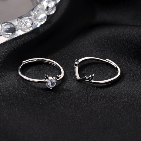 Valentine's Day couple antlers open ring  NHDP309534's discount tags