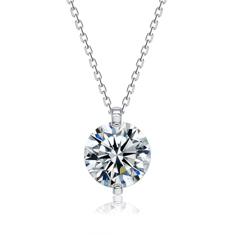 S925 sterling silver pendant rhinestone necklace NHKL309310's discount tags