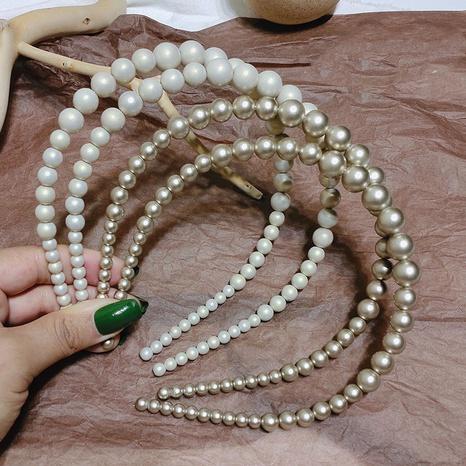Französische Perle Retro elegantes einfaches Stirnband NHAR309441's discount tags
