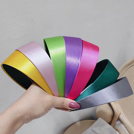 Korean satin glossy elegant retro headband NHAR309423's discount tags