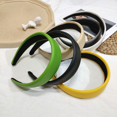 simple new leather simple headband NHAR309396's discount tags