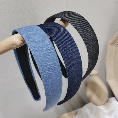 diadema de moda denim retro NHAR309425's discount tags