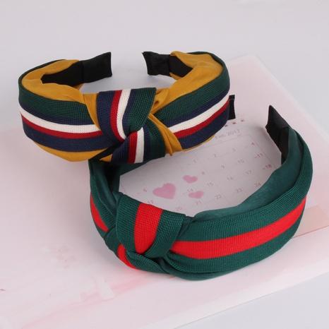 Koreanische Mode gestreift gestrickt geknotetes Stirnband NHAQ310095's discount tags