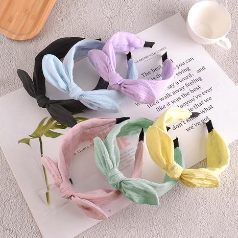 Koreanisches einfaches Hasenohren-Stirnband NHAQ310102's discount tags