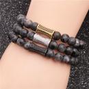Black Stone Beaded Bracelet NHYL310119