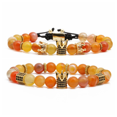 Agate Woven Beaded Bracelet Set NHYL310122's discount tags