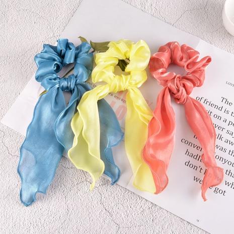 Scrunchies coreanos del pelo del bowknot del color sólido simple NHAQ310128's discount tags