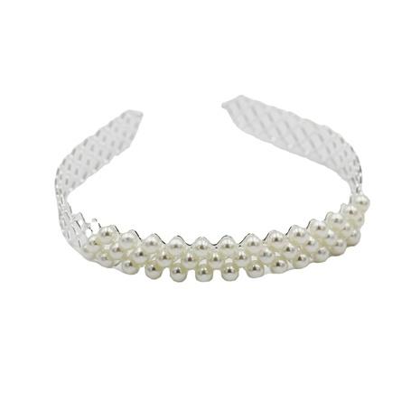 New Korean Mode einfaches Metallgitter Perlen Stirnband NHWJ310161's discount tags