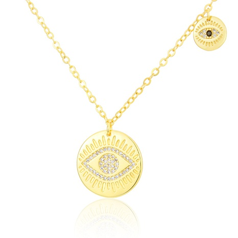 new simple eyes glossy round necklace  NHBP310183's discount tags