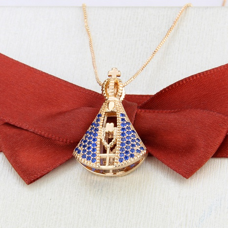 new double-sided Madonna copper necklace NHBP310188's discount tags