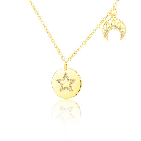 five-pointed star glossy diamond necklace NHBP310193's discount tags