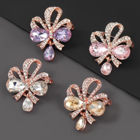 broche fleur en alliage sertie de diamants NHJE310215's discount tags