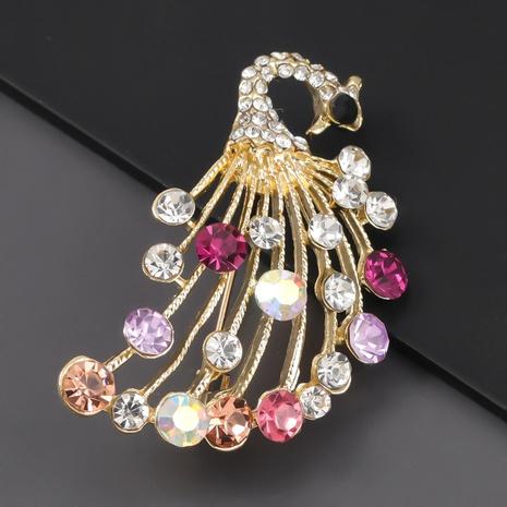 broche de paon en alliage de diamant NHJE310217's discount tags