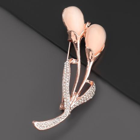 Broche fleur en résine diamant alliage NHJE310220's discount tags