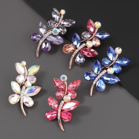 broche en alliage de fleur de feuille de diamant NHJE310224's discount tags