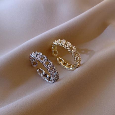 Korean fashion line twist open ring NHLJ310237's discount tags