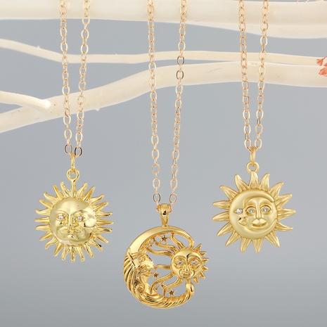 Korean creative sun necklace  NHGO310265's discount tags