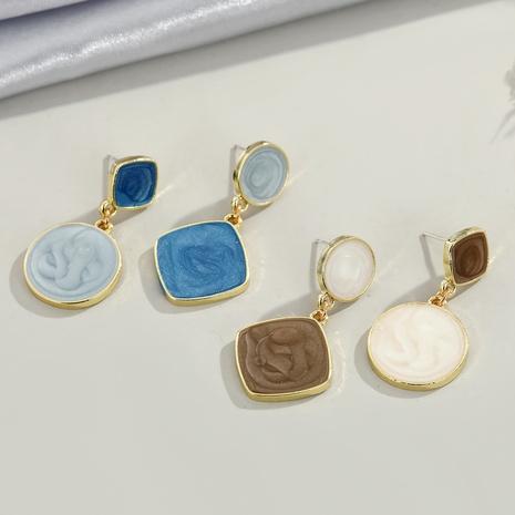 pendientes creativos de moda retro geométrica NHGO310267's discount tags