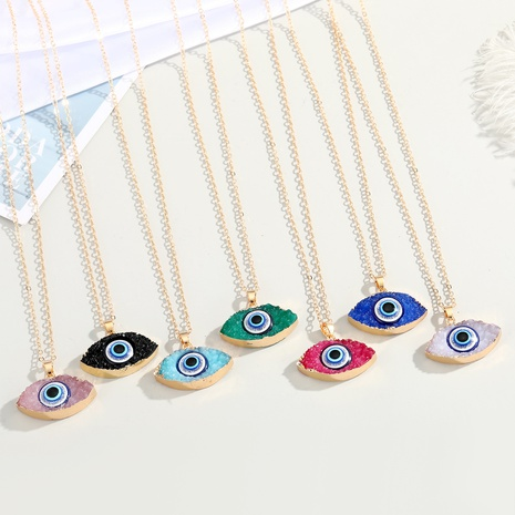 new fashion color Turkish demon eye necklace  NHGO310274's discount tags