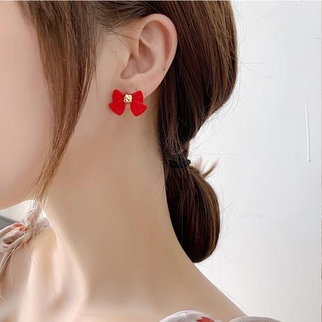 Retro bow fashion earrings NHMS310283's discount tags