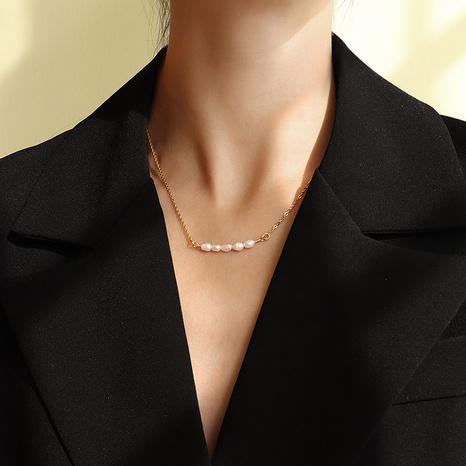Collier de perles d'eau douce imitation baroque NHOK310291's discount tags