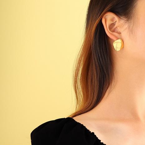 retro geometric square earrings  NHOK310296's discount tags