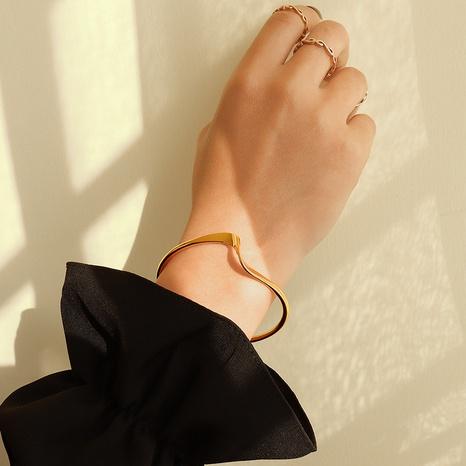 fashion simple twist open bracelet NHOK310299's discount tags
