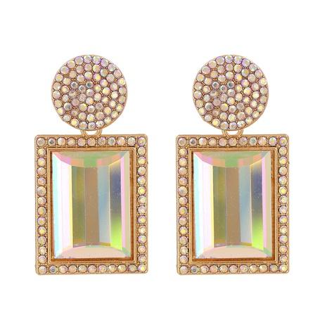 fashion crystal square earrings NHJJ310310's discount tags