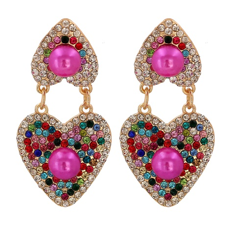 retro colorful heart earrings wholesale NHJJ310321's discount tags