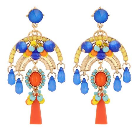 Retro-Ohrringe mit Diamanten im böhmischen Stil NHJJ310323's discount tags