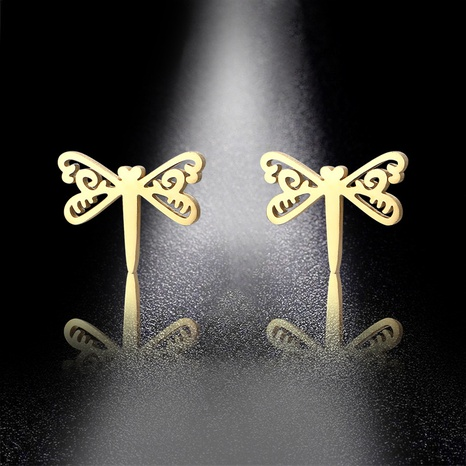 simple dragonfly stainless steel earrings NHAC310383's discount tags