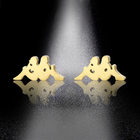 Stainless steel creative fashion earrings NHAC310385's discount tags