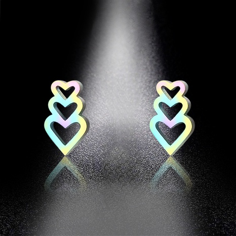 new colorful heart hollow earrings  NHAC310395's discount tags