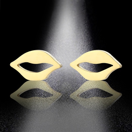 gold-plated stainless steel lips earrings  NHAC310396's discount tags